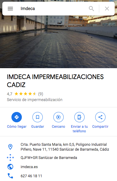 ▷ Productos Impermeabilizacion - IMDECA - Productos Chova Cadiz